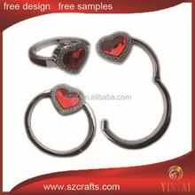 Heart shape souvenir metal bag hanger / Metal Beautiful Bag Holder/Hanger