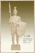 Rome Warrior Sculpture Ancient Warriors Statue, bronze Soldier Sculpture Figure Sculpture