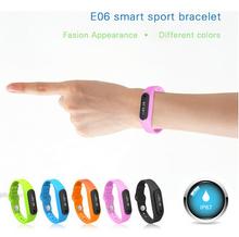New Arrival E06 Touch Screen Bluetooth Smart Bracelet Watch, IP67 Sport Health Sleep Monitoring Smart Wrist Bracelet