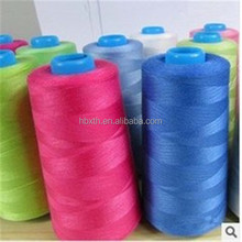 Made in China 100 pct ring spun bright virgin polyester transparent sewing thread various counts various colour