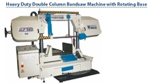 Heavy duty double column bandsaw machine with rotating base