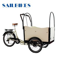 Electric Three Wheels Cargo Bicycle JX-T05B for Carring Goods