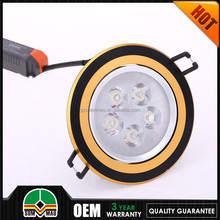 Made in china ip44 12w dimmable led light downlight 3 years warranty led recessed downlight 5 inch high power
