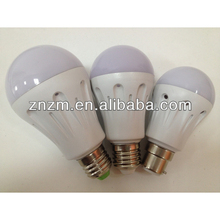 Hot Selling 2 Years Warranty,CE&ROHS SMD2835 E27B22 1w/2w/3w/5w/7w LED PC Bulbs ZNQP03D