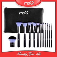 MSQ 12pcs two colors synthetic hair makup brush set