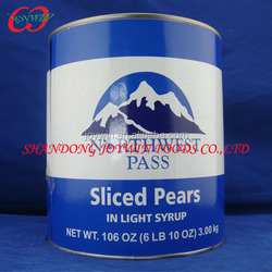 Good factory price canned fruit pear halves dices in syrup