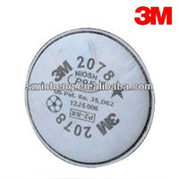 3M White Color Gas Mask Gilter 2078 P95 Particulate Filter/Nuisance Level Organic Vapor/Acid Gas Relief