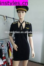 2014 Instyles Walson New Sexy Stewardess Flight Attendant Costume Outfit Uniform Pilot