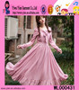 Pink Chiffon Long Dress Muslim Elegant Graceful Long Dress Muslim