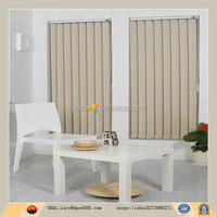 Customized vertical blind curtains with motorized vertical blind track