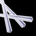 mm 10 en forma de u canal de plástico de pvc claro ajuste del borde de vidrio
