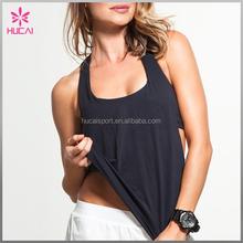 Custom best quality blank rayon/spandex causal supplex loose tank tops wholesale women