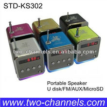 Cute Speaker for SD/TF FM Radio Change Play with Digital Display TM-26(E)