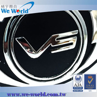 Outstanding glossy finish metal chrome auto sticker badge emblem