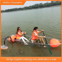 Plastic foldable inflatable fishing boat with great price