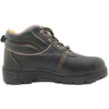 black pu synthetic leather composite toe cap wing oil water resistant slip on safety shoes steel plate landrover for work shop
