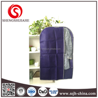 non woven suit cover garment bag with PVC window
