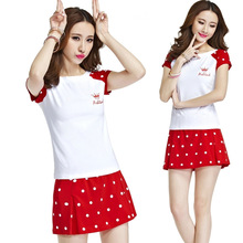 Apparel T-Shirts New summer female tennis leisure suits short-sleeved T-shirt badminton anti emptied Culottes
