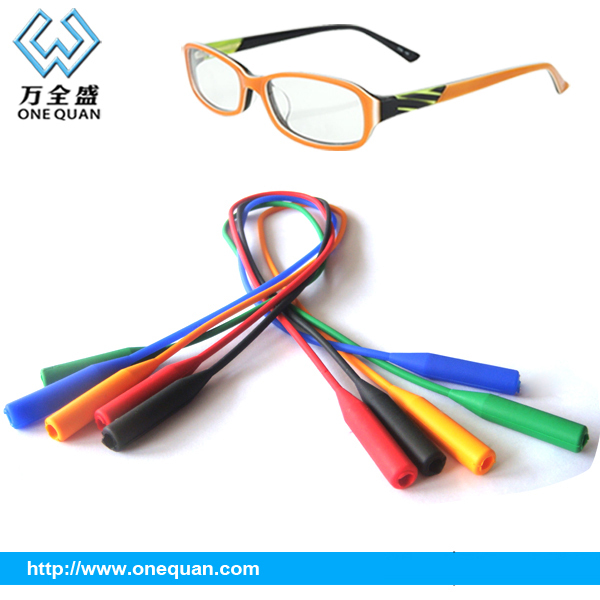2015 hot sale silicone sports glasses strap eyewear retainer silicone goggles strap