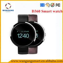 Cheap d360 smart watch MTK62XX OLED screen moto 360 smart watch,smart watch with heart rate monitor