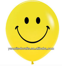 Pack of 10 Smiley Face Helium or Air Fill Balloon Birthday Party Celebrations
