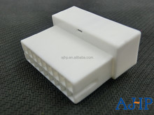 18DIN female auto electrical connector and terminals PA66 PBT GF30 White