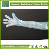 LDPE /PE Disposable veterinary long sleeve gloves