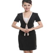 negro de la moda de uniforme de trabajo de la oficina de las señoras