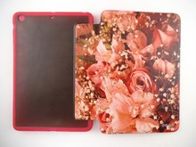 Floral Rhinestone Flip Stand PU Tablet Leather Case For Apple iPad Air 2/ for ipad 6