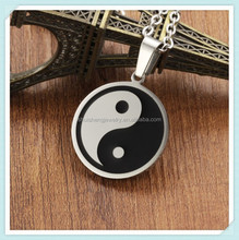 Fashion hotsle design factory direct sale stainless steel yin yang necklace wholesale