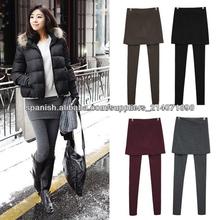 Falda <span class=keywords><strong>Leggings</strong></span> Footless Tights plisado algodón 2013 ocasionales de Corea de las mujeres estira los pantalones largos 9314#
