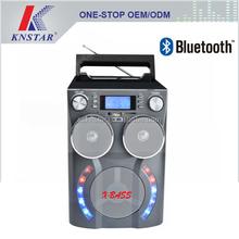 Bluetooth speaker AM/FM/SW1-2 4 band radio receiver with hi-fi speaker