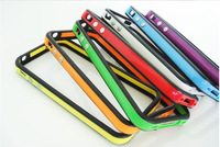 Dual Color Ultra thin Slim Black TPU Bumper Frame Cover Case for iPhone 4S 4