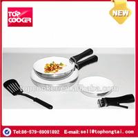 Ceramic coating fry pan set with detachable handle