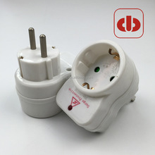 Germany electrical plug adapter with surge protection European Plug Adapter to 1 Euro Outlets