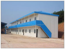 light steel prefabricated house with color steel panel prefab modular house