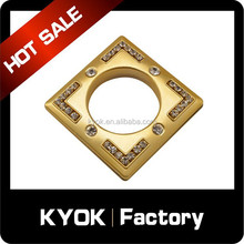 Cheap and fine plastic curtain eyelet rings, ABS square curtain grommet diamond decor,KYOK curtain rod 10 years superior factory