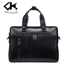 Classic style man office briefcase bag leather handbag made in Guangzhou