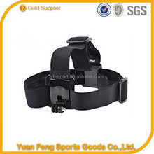 Action camera head wearing strap accessories