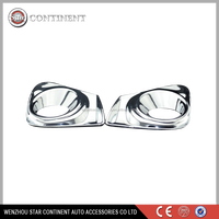 Car exterior accessories ABS chrome body part front fog light cover for 2011 corolla
