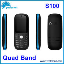 Cheapest Low End China Mobile Phone Low Cost Dual Sim Card Cellphone Quad Band 1.8 inch GPRS WAP FM Radio Mobile Phones S100