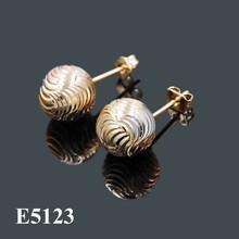 Tri tone plating stud earrings, earring jewellery
