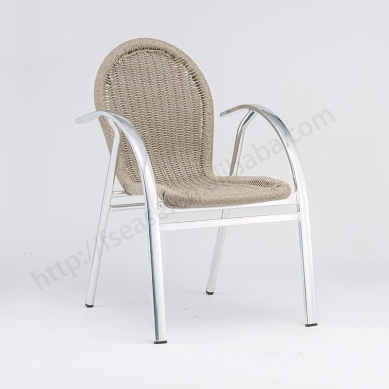Jardín de bambú mirada al aire libre sillas de comedor de ratán con ...