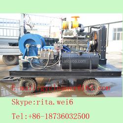 Sewer pipe blaster high pressure water jet drain cleaning machine