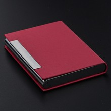 Promotion Leather Business Card Holder PU Business NameCard Case
