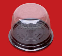 clear plastic round cake box