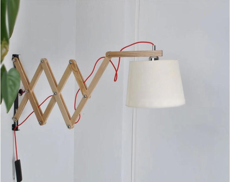 W 105 moderna lampada da parete in legno di lettura testiera per la camera da letto lampade da - Lampade da lettura a letto ...