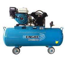 100l 5.5hp gasoline engine 2 cylinder belt driven air compressor