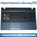 Teclado del ordenador portátil para samsung NP270 con tapa y touch pad