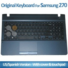 Laptop keyboard for samsung NP270 with cover and touch pad